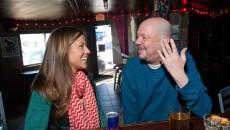 Melinda Adkins and Greg Allen enyoy some afternoon imbibing at the Drunken Fry. (Mark Hancock)