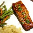 Asian Salmon dish at Pub W in Norman. (Mark Hancock)