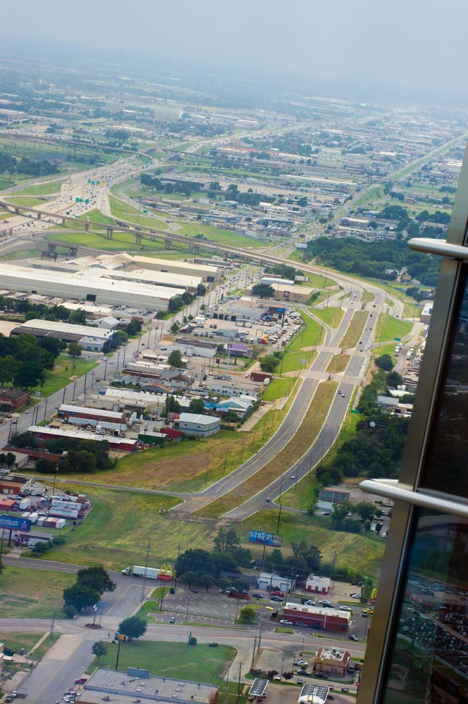 Photograph looking west toward the Crosstown Boulevard and I-40. (Shannon Cornman)