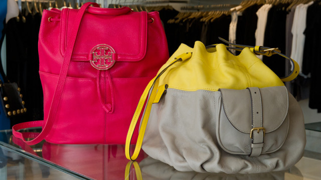 Left, Tory Burch back pack-$475 and right, Marc by Marc back pack-$548, found at CK Company. (Shannon Cornman)