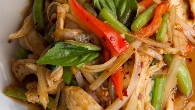 Spicy Basil Chicken at Charm Royal Thai Cuisine (Shannon Cornman)