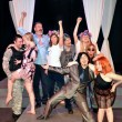 From left Heath Jones Jr, Mariah Webb, Robert Shaun Kilburn, Erin Woods, Timothy Berg, Lydia McBee Reed, Jessa Schinske, Denise Hughes, Tori Goss. (Reduxion Theatre Company)