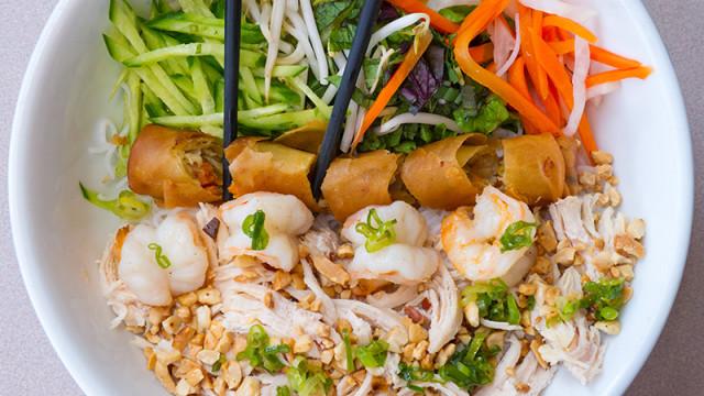 Pho Ca Dao has excellent Bun, a vermicelli salad bowl. (Shannon Cornman)