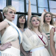 The cast of Reduxion Theatre's Lysistrata (provided by Reduxion Theatre Co.)