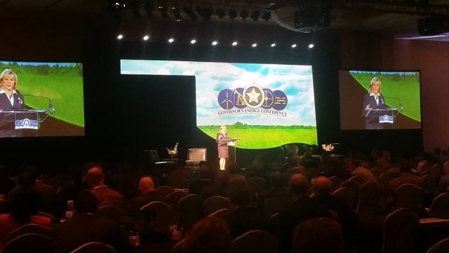 Gov. Mary Fallin spoke at the 2014 Governor's Energy Conference in Oklahoma City. (Governor's office)