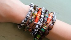 Bracelets made with beads from Africa by Allison and Elizabeth. (Shannon Cornman)