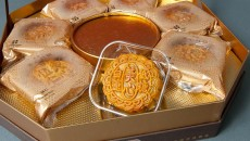 One of the many varieties of premium moon cakes available at Super Cao Nguyen (Mark Hancock)