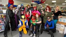 A super hero Saturday at New World Comics.Photo/Shannon Cornman