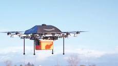 Could aerial drones soon be used to deliver pizza? How about police used for surveillance? (Provided)