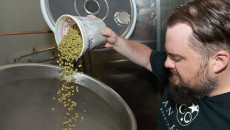 3 Anthem Brewing Matt Anthony pours hops 62mh