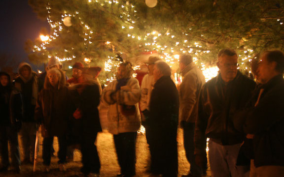 Patrons get in the holiday spirit while taking in the Paseo scenery. (Provided)
