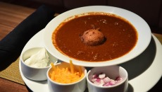 The popular Buffalo Chili always stays on the menu at Flint.  mh