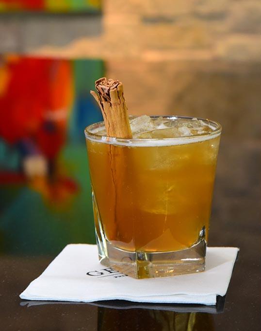 Harvest Moon seasonal drink at The George.  mh