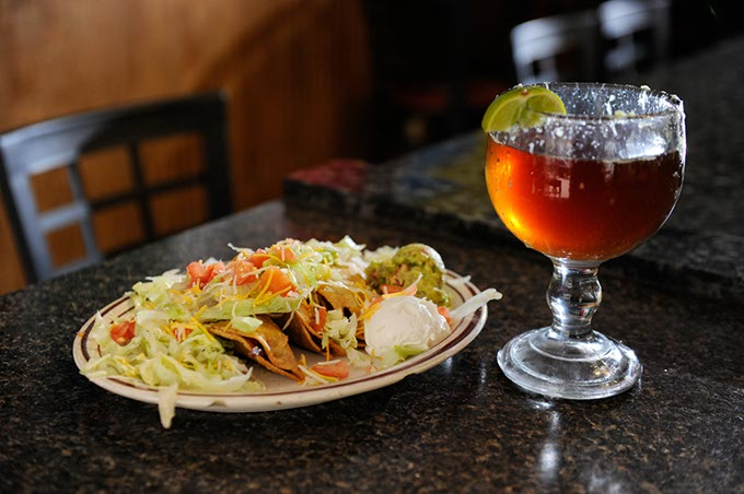 La Cueva's Old Fashion Tacos at La Cueva Grill. (Garett Fisbeck)