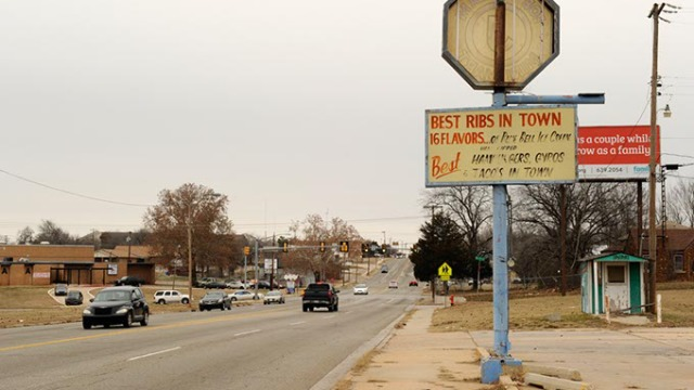 NE 15th and Martin Luther King in Oklahoma City.  (Garett Fisbeck)
