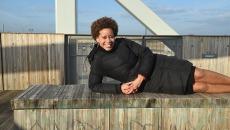 Catherine Anadu on the Skydance Bridge.  mh