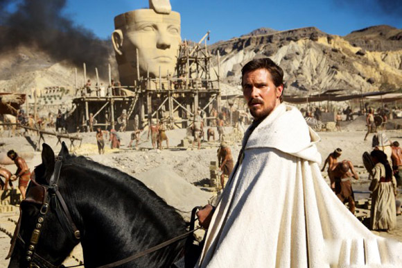 Christian Bale portrays Moses in Exodus: Gods & Kings.
