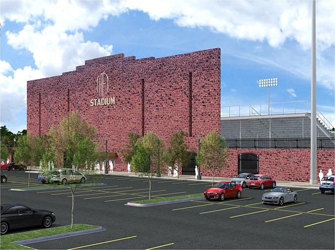 Renovations at Taft Stadium will be complete in the spring. (Provided)