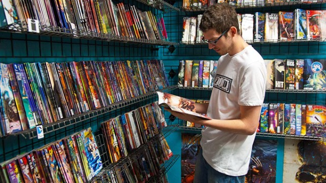 at Empire Strikes Books is shop friend and help, Blake Schlup.  mh