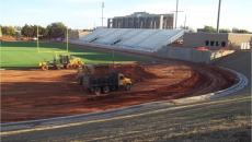 Photo from the past few months of work at Taft Stadium in northwest Oklahoma City. (City of OKC)