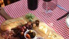 Gabriella's Italian Grill & Pizzeria-the Antipasto Board with wine.  mh