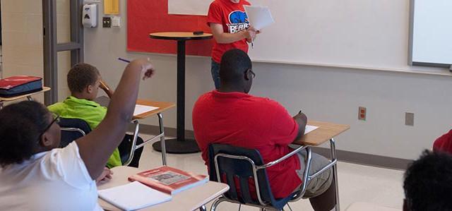 Academic Achievement class at John Marshall High School in OKC.  mh