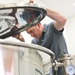 Mustang BrewerTim Schoelen with fermenter 88mh